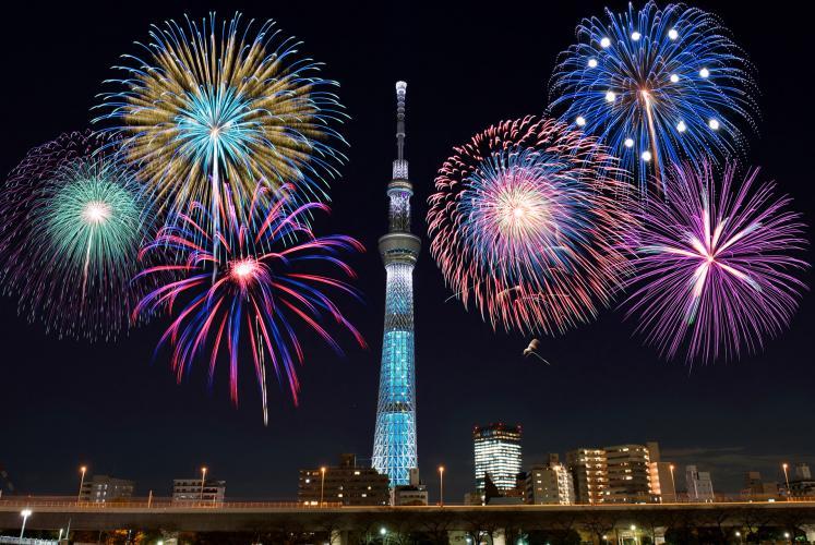 隅田川花火(2020年7月11日)