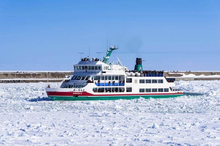 網走流氷観光砕氷船