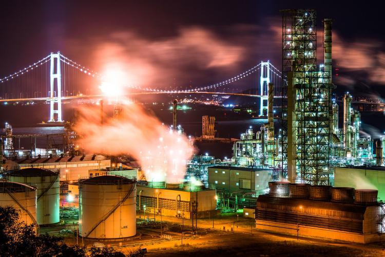 室蘭工場夜景(白鳥湾展望台)