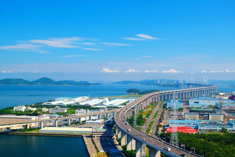 瀬戸大橋(聖通寺山展望台)