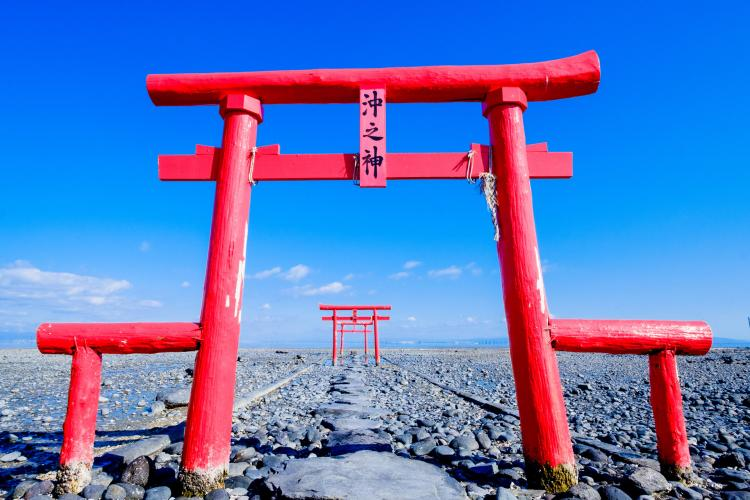 海中鳥居(大魚神社)