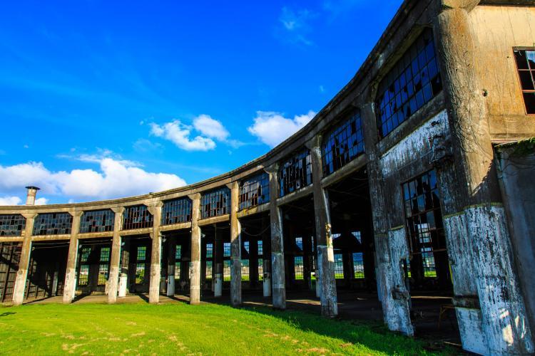 旧豊後森機関庫